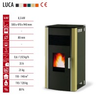 Пелетна камина LUCA 8 kW на Алфа-Плам